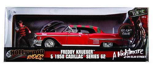 Freddy Kreuger & 1958 Cadillac Series 62 1:24 Die-Cast Automobile
