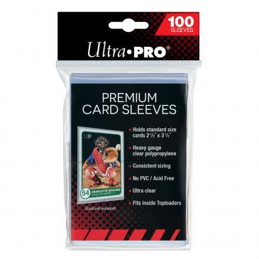 Clear Premium Card Sleeves 100-Pack (Ultra Pro)