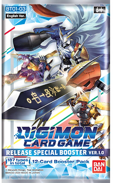 Digimon Card Game Release Special Booster Ver. 1.0 Pack