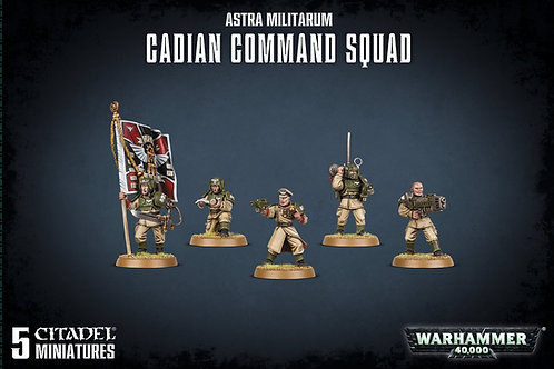 Warhammer 40K: Astra Militarum Cadian Command Squad (47-09)