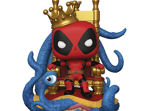 King Deadpool on Throne Previews Exclusive Pop! Figure