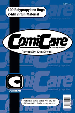 ComiCare Current Size Polypropylene Comic Bags (Pack of 100)