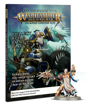Getting Started with Warhammer Age of Sigmar Magazine & Miniature