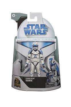 """Star Wars The Black Series: Clone Pilot Hawk (Lucasfilm 50th) 6"""" Figure"""