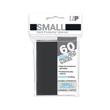 Black Small Deck Protector Sleeves 60-Pack (Ultra Pro)