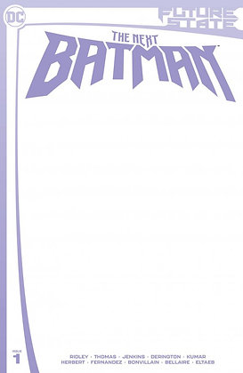 Future State: The Next Batman #1 Blank Cover