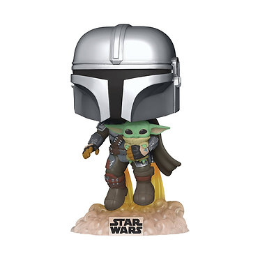 Star Wars: The Mandalorian & Child (Flying with Jet Pack) Pop! Figure