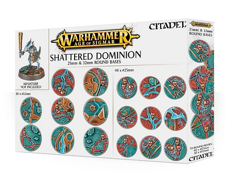 Citadel: Shattered Dominion 25 & 32mm Round Bases (66-96)