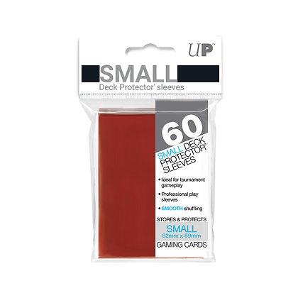 Red Small Deck Protector Sleeves 60-Pack (Ultra Pro)
