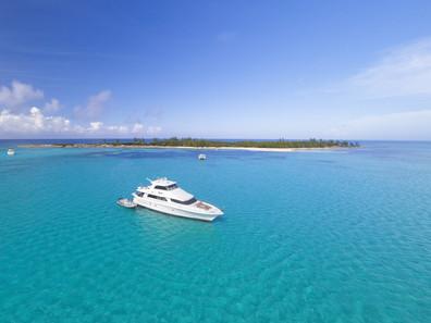 Aerial Equinox Green Cay Brilliant Blue