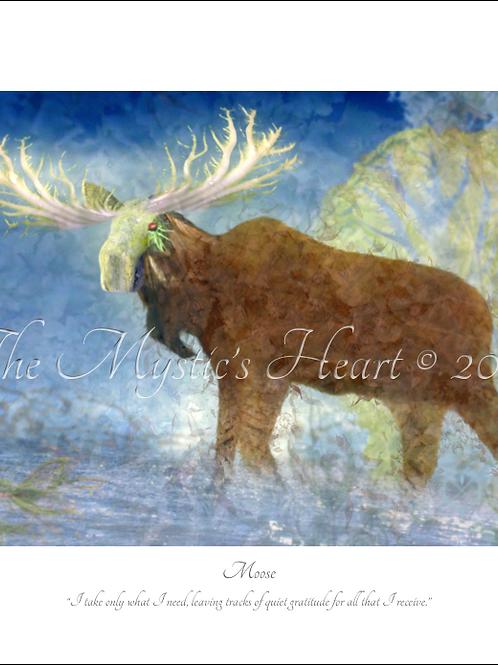 Moose 16x12 Unframed Giclée Print