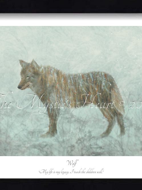 Wolf 16x12 Framed Giclée Print