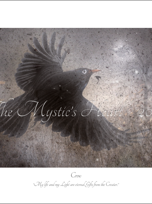 Crow 16x12 Unframed Giclée Print