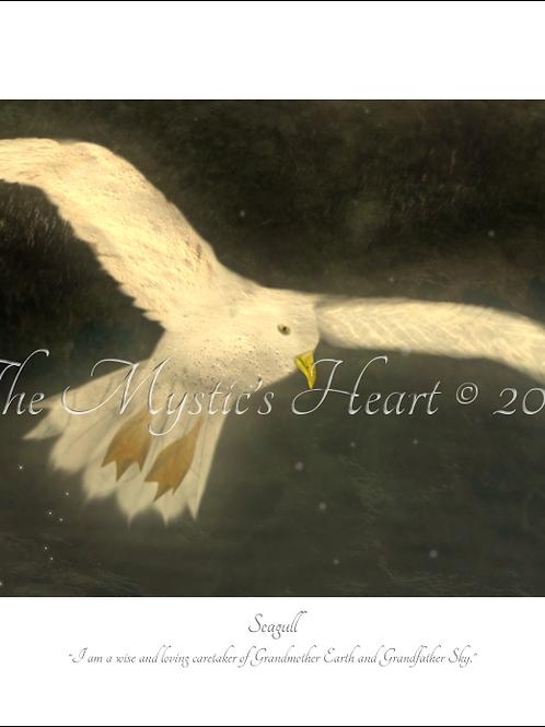 Seagull 16x12 Unframed Giclée Print