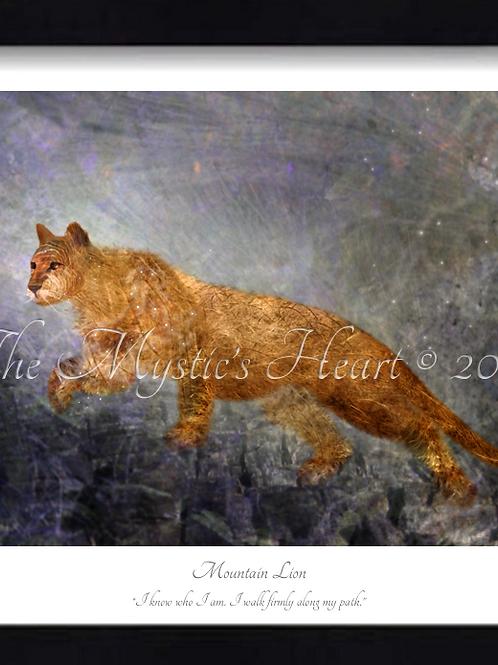 Mountain Lion 16x12 Framed Giclée Print