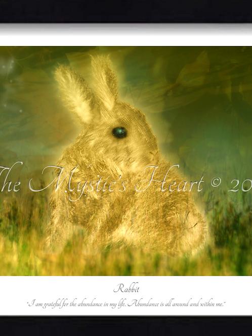 Rabbit 16x12 Framed Giclée Print