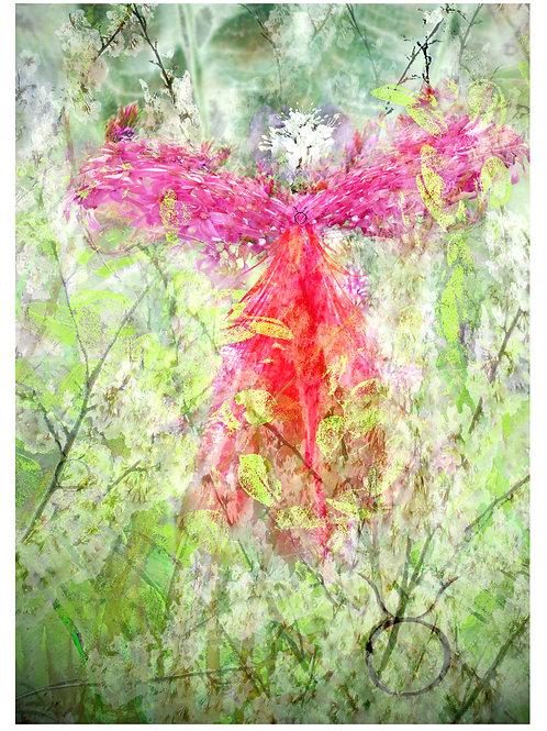 Archangel Asmodel Greeting Card