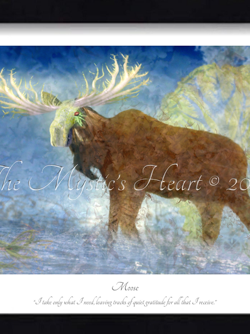 Moose 16x12 Framed Giclée Print