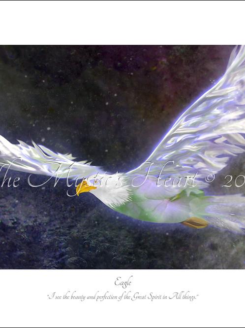 Eagle 16x12 Unframed Giclée Print
