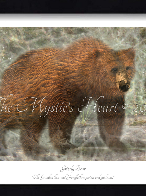 Grizzly Bear 16x12 Framed Giclée Print