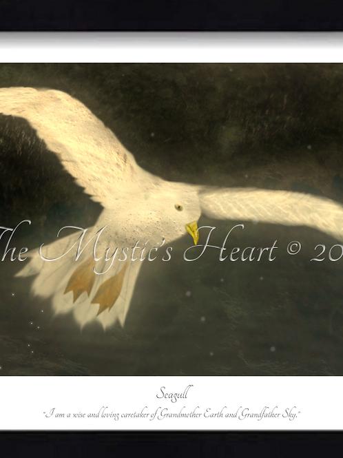 Seagull 16x12 Framed Giclée Print