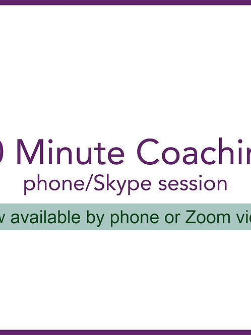 60 Minute Zoom/Phone in Person Session