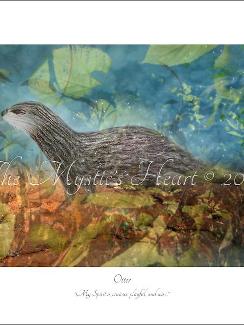 Otter 16x12 Unframed Giclée Print