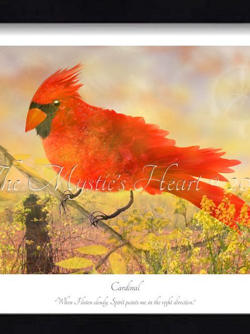 Cardinal 16x12 Framed Giclée Print