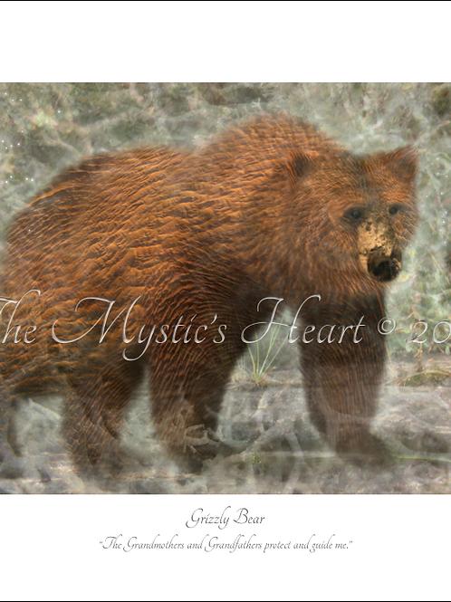 Grizzly Bear 16x12 Unframed Giclée Print