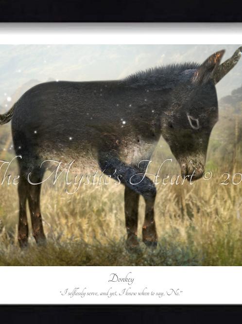 Donkey 16x12 Framed Giclée Print