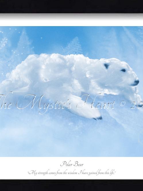 Polar Bear 16x12 Framed Giclée Print