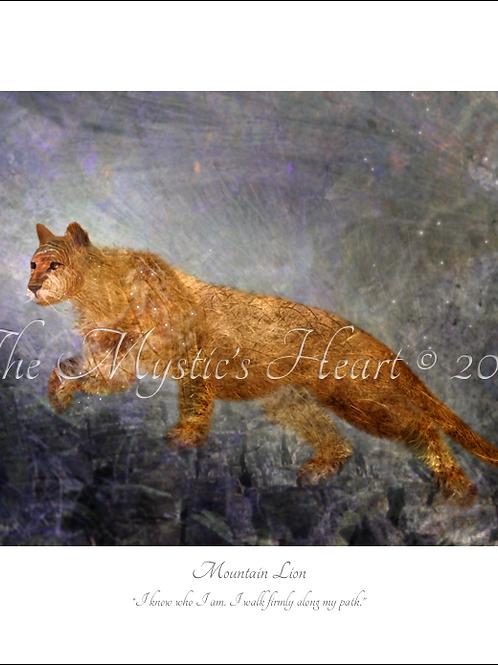 Mountain Lion 16x12 Unframed Giclée Print
