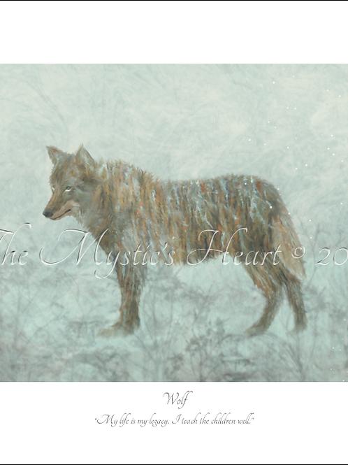 Wolf 16x12 Unframed Giclée Print