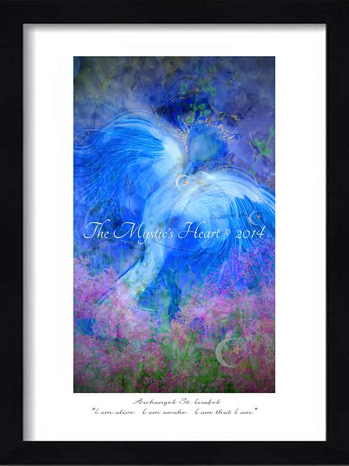 Archangel St Israel 12x16 Framed Giclée Print