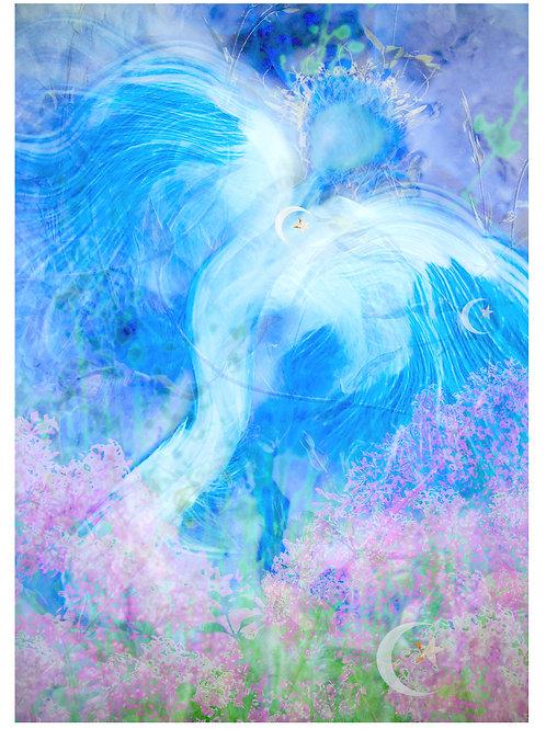 Archangel St Israfel Greeting Card