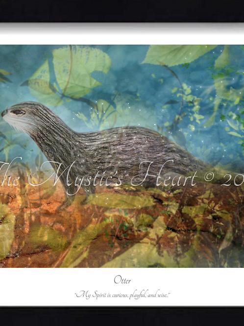 Otter 16x12 Framed Giclée Print