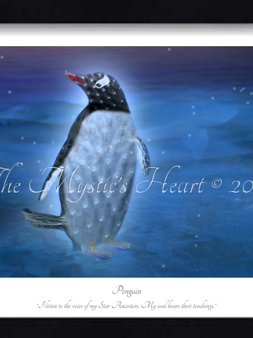 Penguin 16x12 Framed Giclée Print