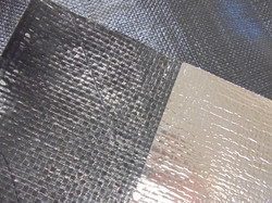 Woven laminated to a Reflective Barrier