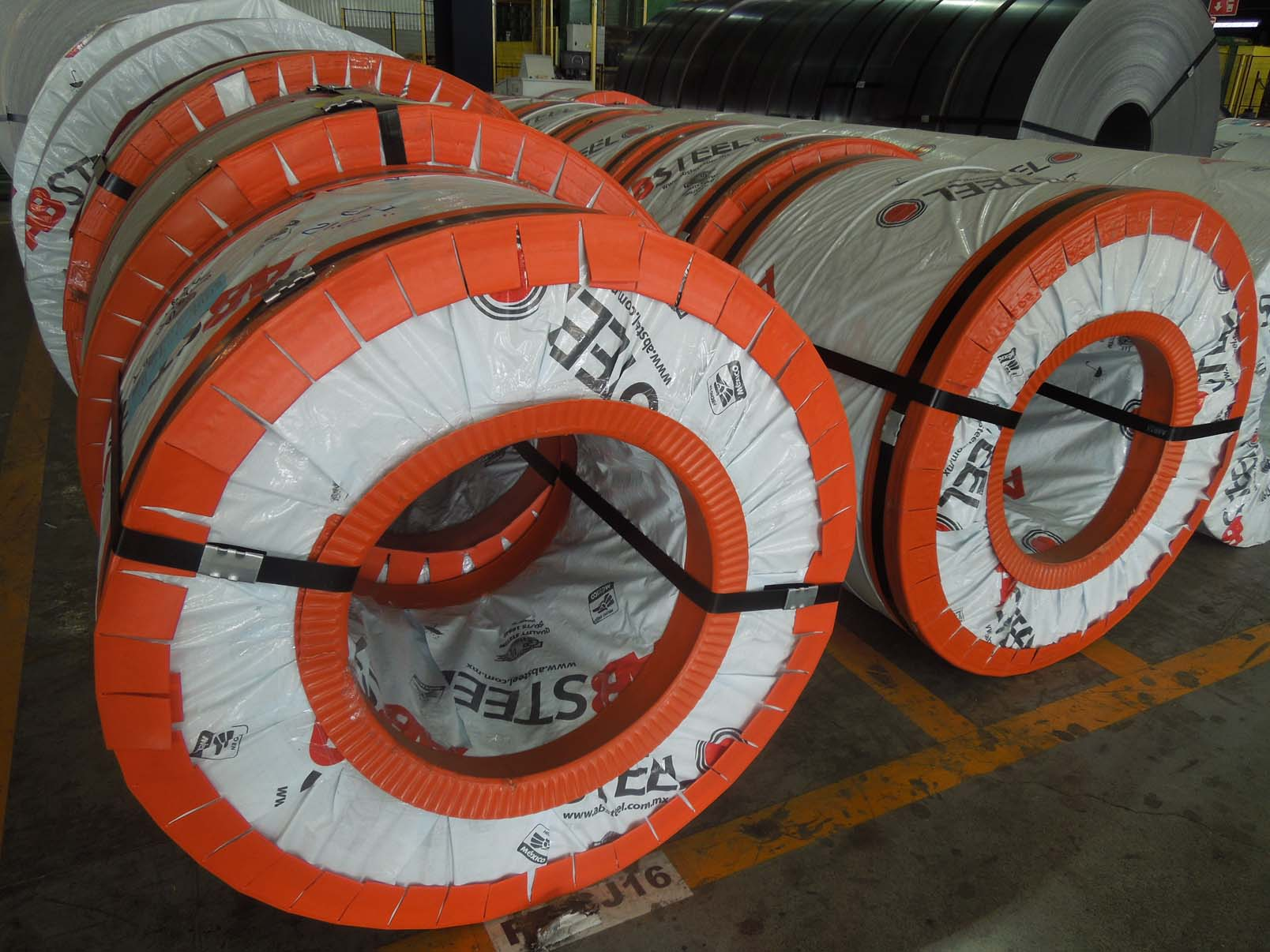 Steel Coils ready to transport