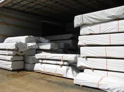 Protected Lumber Bundles in Storage