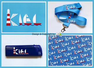 Postkarten, Lanyards und Feuerzeuge mit unserem Kiel-Logo!