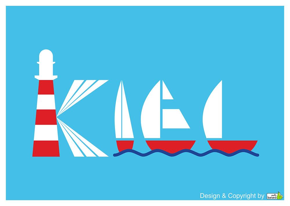 Pretty Banana's Logo-Design für Kiel. Design & Copyright by prettybanana.com.