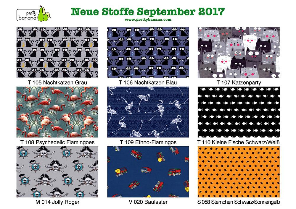 Neue Stoffe eingetroffen September 2017. Sixx-Zagg-Mützen von prettybanana.com. Deine individuelle Mütze aus München.