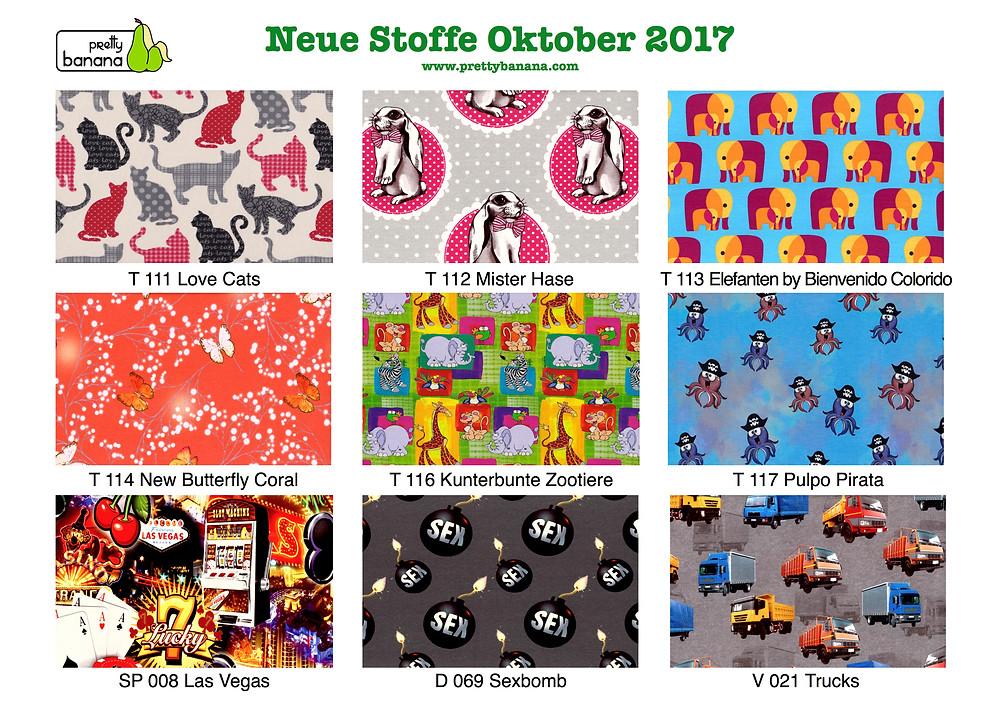 Neue Stoffe eingetroffen Oktober 2017. Sixx-Zagg-Mützen von prettybanana.com. Deine individuelle Mütze aus München.