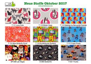 Neue Stoffe eingetroffen (Oktober 2017)
