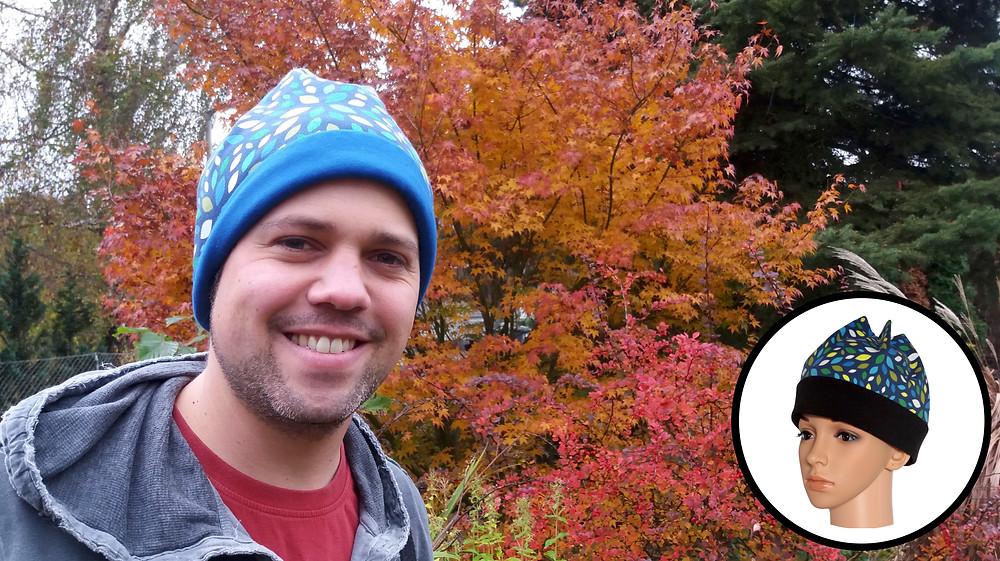 Ein Kunde ist nach Diebstahl wieder glücklich mit seiner neuer Mütze. Sixx-Zagg-Mützen von prettybanana.com. Deine individuelle Mütze aus München.