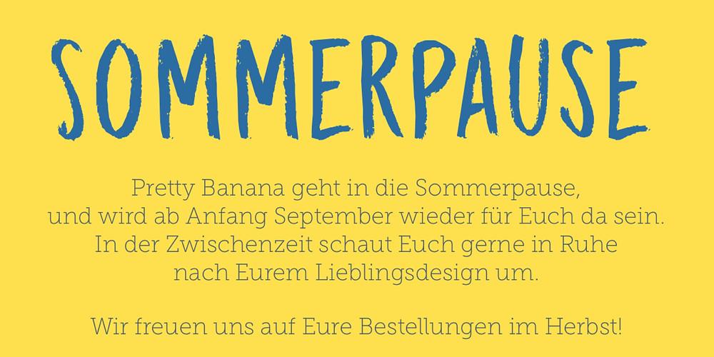 Pretty Banana geht in die Sommerpause 2017. Danke an alle Kunden der letzten Saison! Sixx-Zagg-Mützen von prettybanana.com. Deine individuelle Mütze aus München.