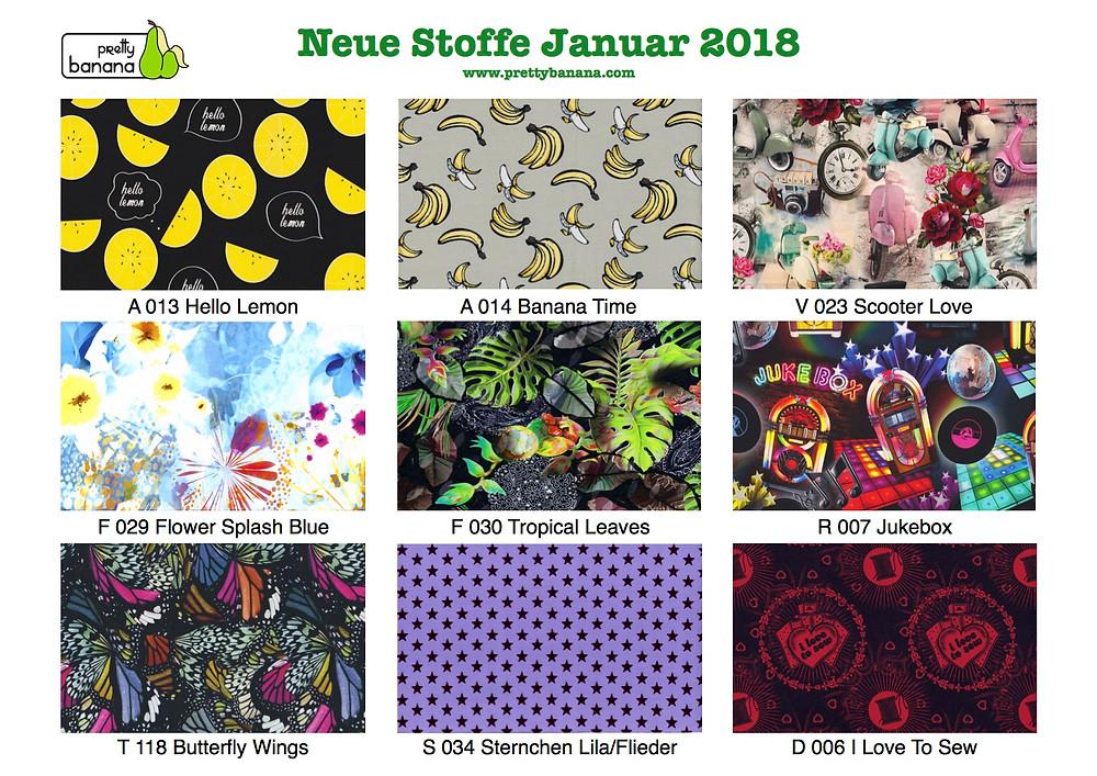 Neue Stoffe eingetroffen Januar 2018. Sixx-Zagg-Mützen von prettybanana.com. Deine individuelle Mütze aus München.