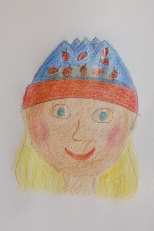 Feedback. Zeichnung von Lara mit ihrer Lieblingsmütze. Sixx-Zagg-Mützen von prettybanana.com. Deine individuelle Mütze aus München.