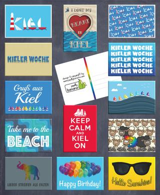 Unsere Postkarten-Designs für die Kieler Woche 2019